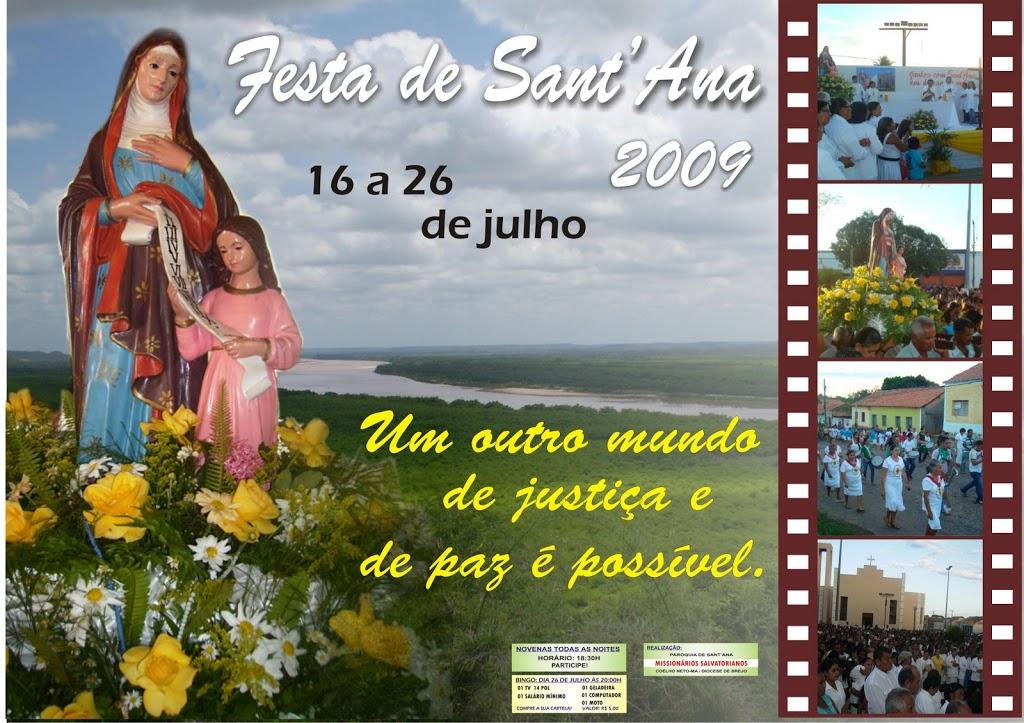DIVULGADA PROGRAMAÇÃO OFICIAL DO FESTEJO DE SANT´ANA 2009