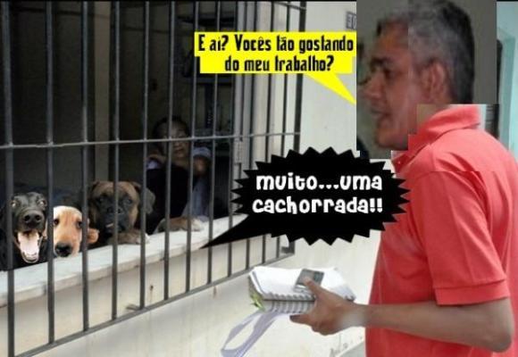 CHARGE ELETRÔNICA: AMÉRICO EM PESQUISA NA RUA..
