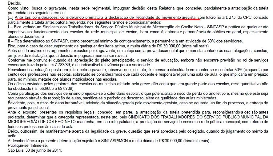 NOTA DE RETRATAÇÃO – AO SINTASP/MCN