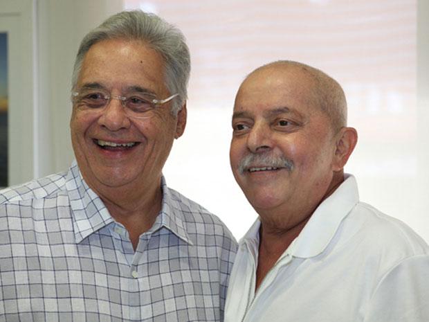 LULA RECEBE VISITA DE FHC EM HOSPITAL DE SÃO PAULO