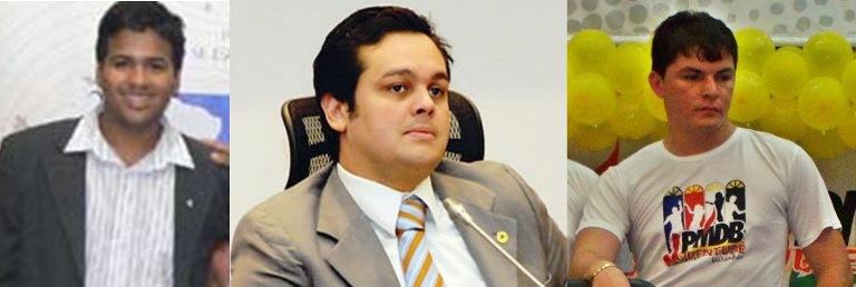 TRIO DA JUVENTUDE:  GUSTAVO SANTOS, CARLOS FILHO E ASSIS FILHO TOMAM POSSE HOJE