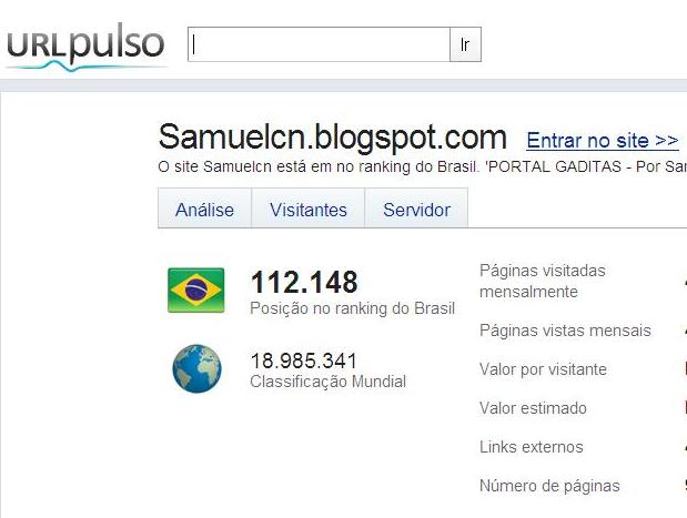 OS BALAIOS NA ÁGUA DE AÇÚCAR: PORTAL GADITAS NO RANKING DOS MAIS VISITADOS DO BRASIL