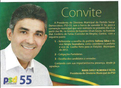 CONFIRMADO! CONVENÇÃO DO PSD SERÁ DIA 23