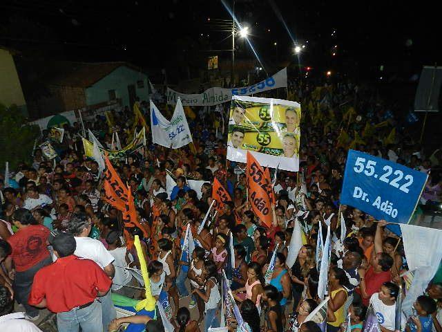 ELEIÇÕES 2012: CARAVANA DO 55 É RECEBIDA COM FESTA NO BAIRRO SANTANA