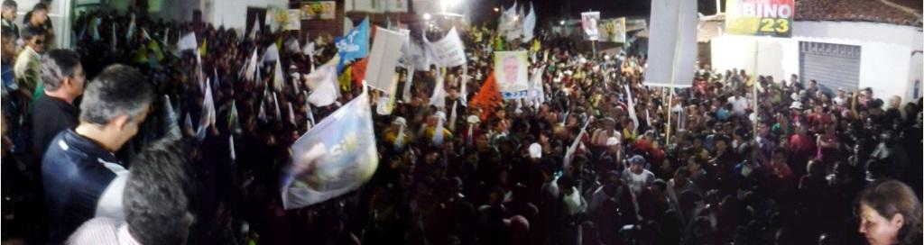 ELEIÇÕES 2012: CARAVANA DO 55 CONTAGIA A POPULAÇÃO NO BAIRRO DO ANIL