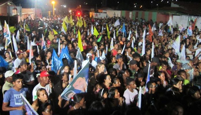 ELEIÇÕES 2012: CARAVANA DO 55 ARRASTA MULTIDÃO NO BAIRRO BONSUCESSO