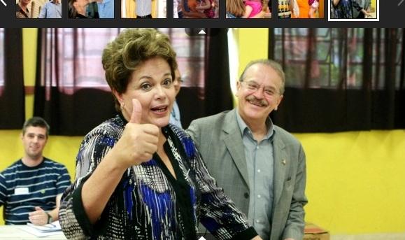 """DILMA VOTA EM PORTO ALEGRE E DIZ QUE BRASIL VIVE """"IMENSA FESTA"""" DURANTE ELEIÇÕES"""