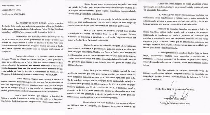 SOLINEY SILVA RESPONDE NOTA DE REPÚDIO DA ADEPOL