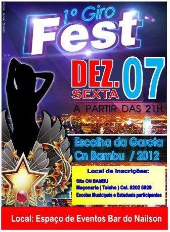 1º GIRO FEST ACONTECE HOJE