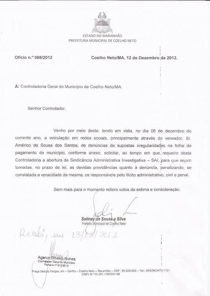 SOLINEY MANDA APURAR DENÚNCIAS DE SUPOSTAS IRREGULARIDADES NA FOLHA DE PAGAMENTO