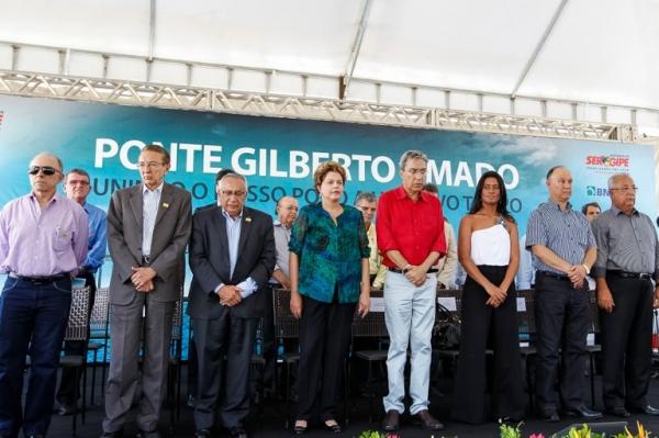 DILMA ROUSSEFF E GASTÃO VIEIRA INAUGURAM A MAIOR PONTE SOBRE RIO DO NORDESTE EM SERGIPE