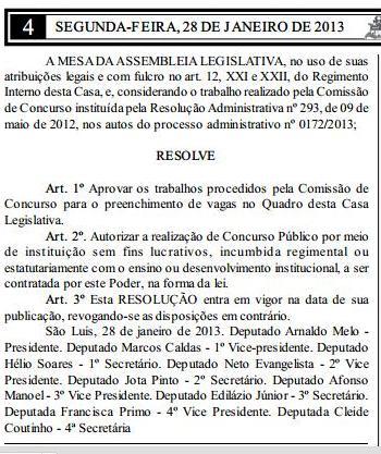 ATENÇÃO CONCURSEIROS: ASSEMBLÉIA LEGISLATIVA FARÁ CONCURSO PÚBLICO