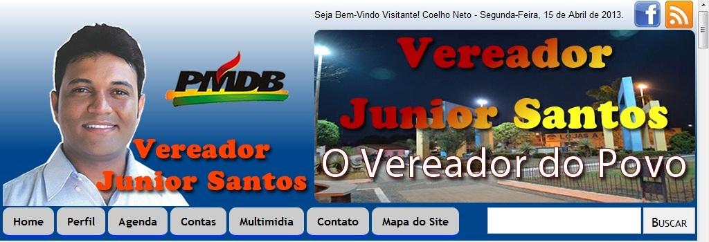 VEREADOR JÚNIOR SANTOS NA INTERNET