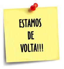 DE VOLTA AO TRABALHO!
