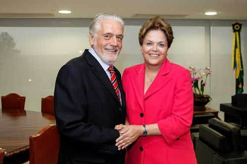 Jaques Wagner com presidente Dilma Roussef