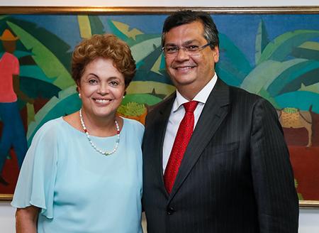 Governador-Flávio-Dino-em-audiência-com-a-presidenta-Dilma-Rousseff