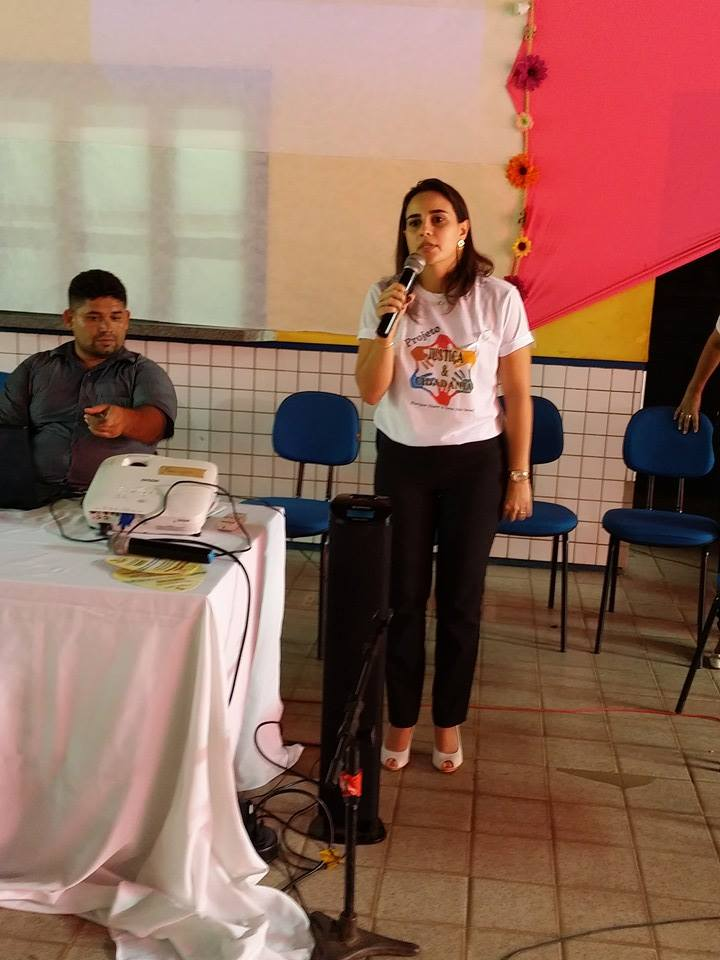 A idealizadora do projeto Dra. Raquel Menezes