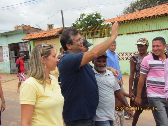 A Prefeita Talita Laci e o governador Flávio Dino: parceria consolidada