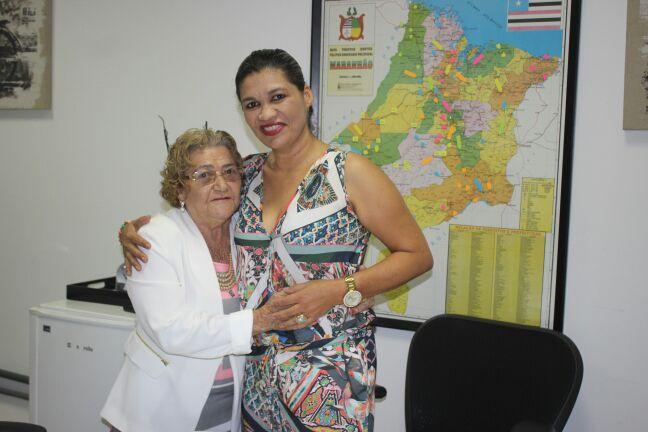 Vereadora Eidimar Gomes (PSDB) em audiência com a Subsecretária de Estado da Saúde, Rosângela Curado