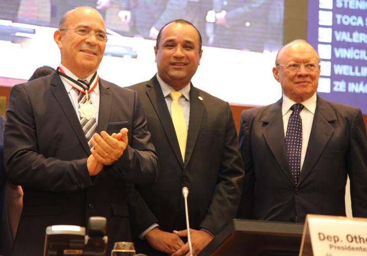 Eliseu Padilha, Roberto Costa e João Alberto na Assembleia Legislativa