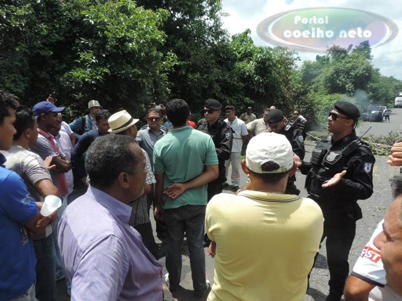 Polícia teve que negociar por ausência dos assessores do governo na região