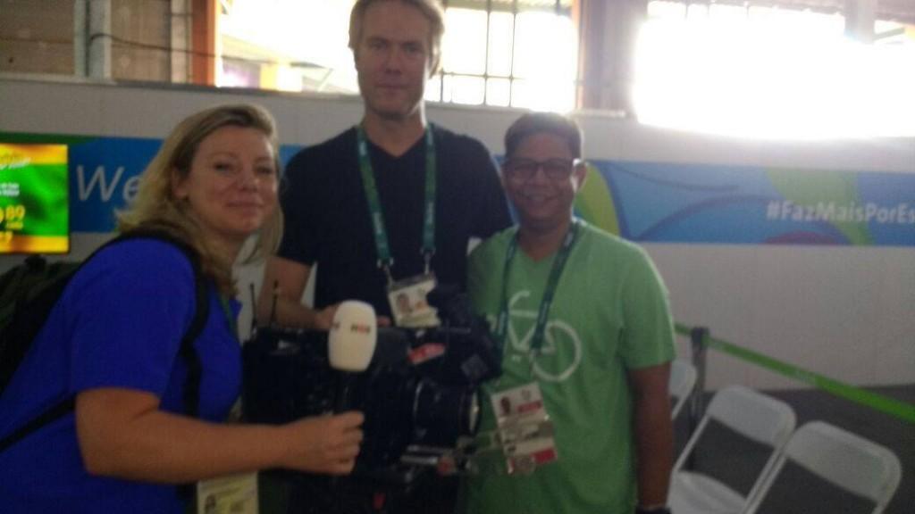 Francisco Lima durante entrevista concedida a tv holandesa