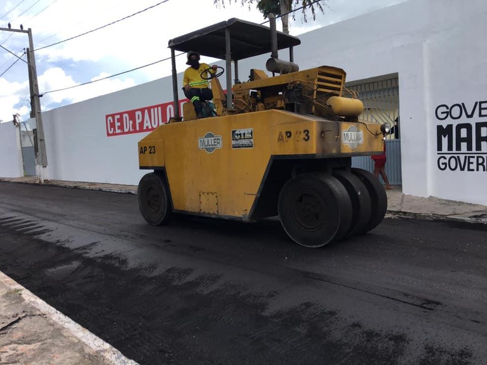 Prefeitura retoma obras de pavimentação asfáltica em Chapadinha