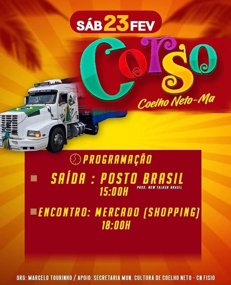 Corso de Coelho Neto será realizado neste sábado (23)