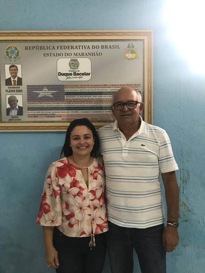 Prefeito Jorge Oliveira anuncia a nova secretária de Assistência Social de Duque Bacelar