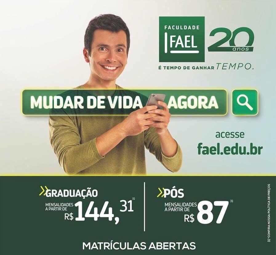 Promoção de mensalidade com bolsa de estudo na Fael Coelho Neto encerra nesta sexta (29)