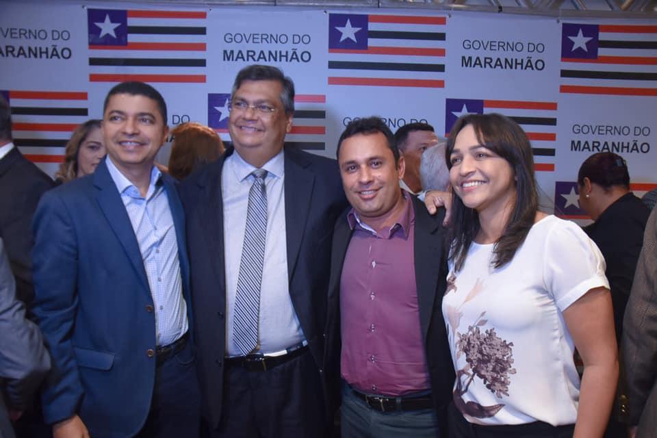 Prefeito de Afonso Cunha prestigia posse de secretários de Estado em São Luís
