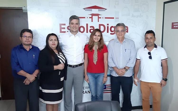 Acompanhado do deputado Neto Evangelista, prefeito de Afonso Cunha apresenta pleitos da educação na SEEDUC