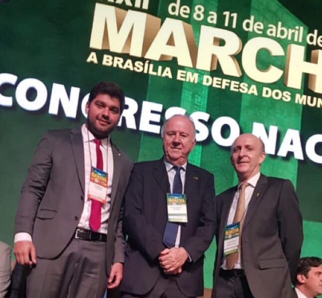 Marreca Filho tem agenda movimentada durante Marcha dos Prefeitos em Brasília