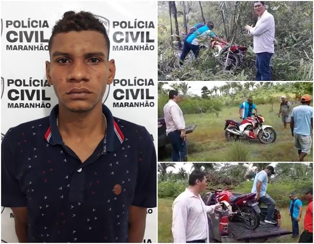 Assaltante que colocou arma na cabeça de criança ao roubar moto é preso