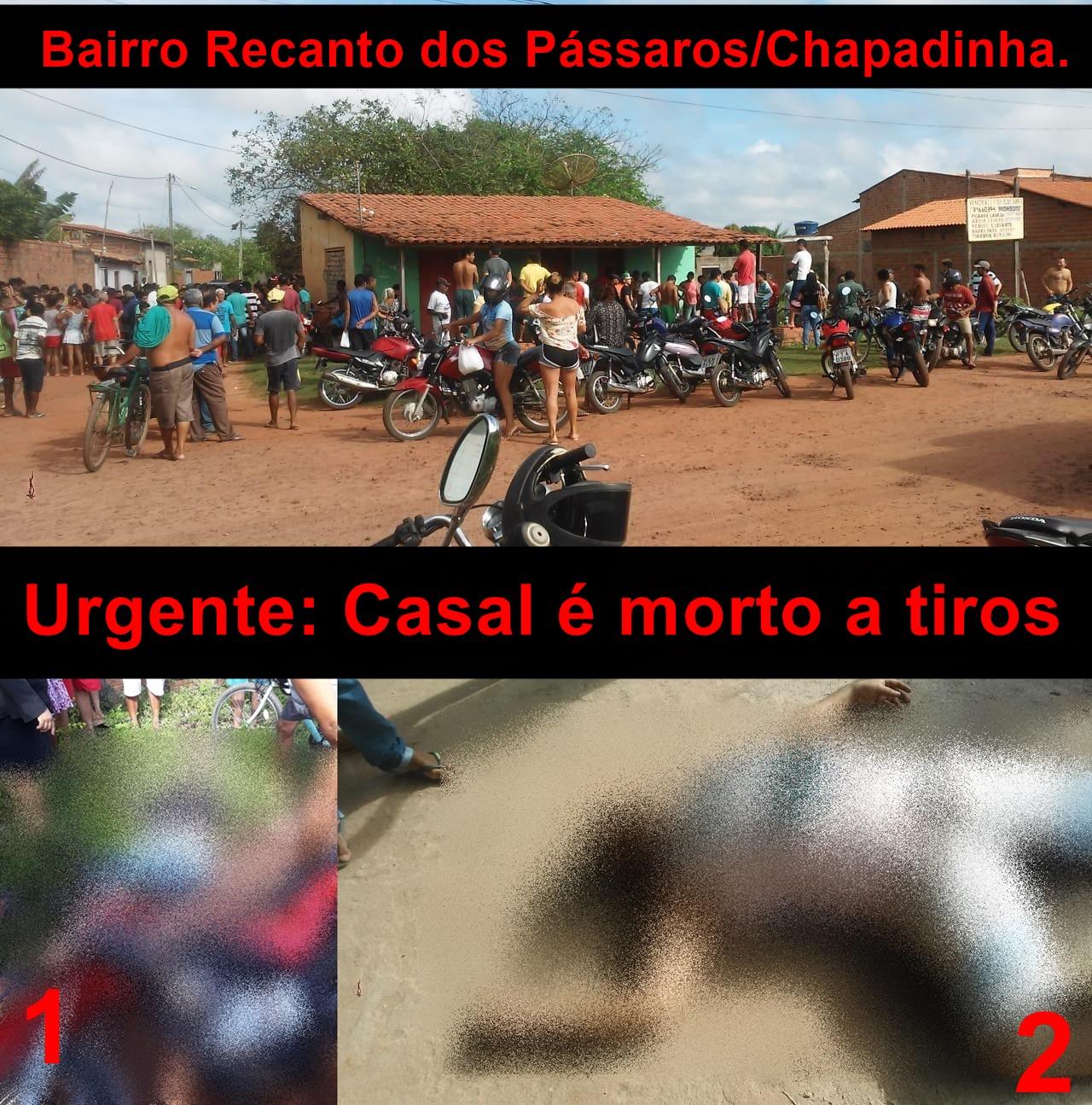 Casal foi executado nesta quarta (15), em Chapadinha