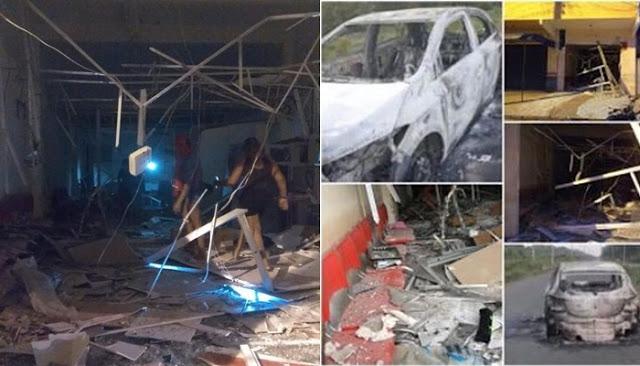 Após retirada da UTC da região, bandidos explodem posto avançado do Bradesco em Buriti-MA