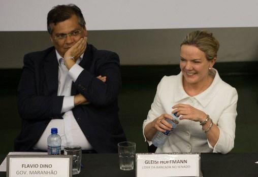 Depois de Lula, Gleisi Hoffman também é enfática ao negar convite para Flávio Dino
