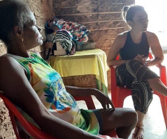 Em apoio a pré-candidatura do marido, Andressa Silva cai em campo e mantém agenda de visitas em Coelho Neto