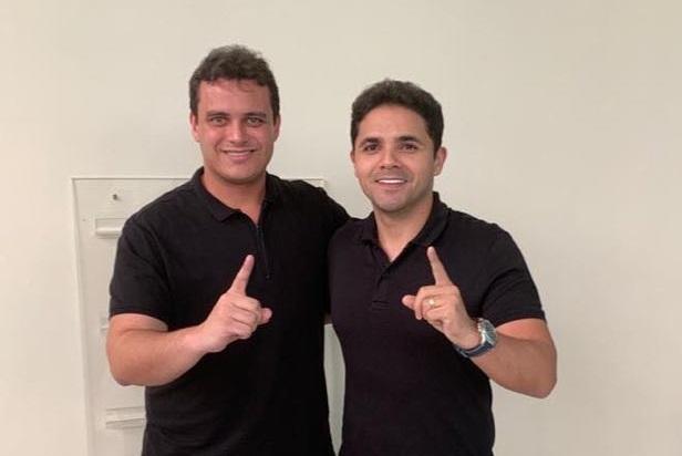 Imagem do Dia: Bruno Silva e deputado Glaubert Cutrim