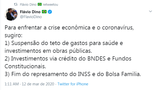Com Maranhão na rabeira, Dino dá aula de economia a Bolsonaro no Twitter