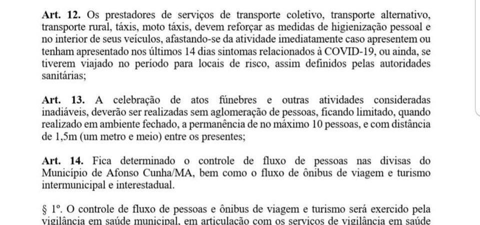 Arquimedes assina decreto que regula controle de fluxo de pessoas e veículos nas divisas do município
