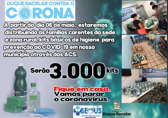 Covid19- Prefeitura de Duque Bacelar garante a entrega de 03 mil kits de higiene para a população