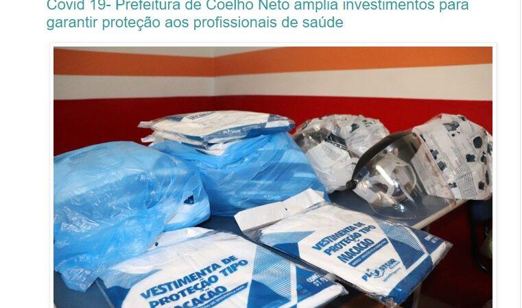 Agentes de Saúde reagem e desmentem investimentos em EPIs divulgados pela Prefeitura de Coelho Neto