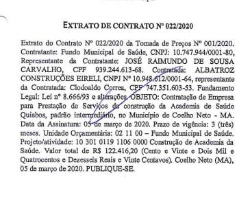 Prefeitura de Coelho Neto deveria entregar Academia de Saúde em junho; Obra sequer começou