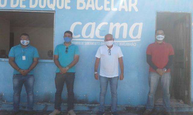 Prefeito Jorge Oliveira se reúne com equipe da CAEMA