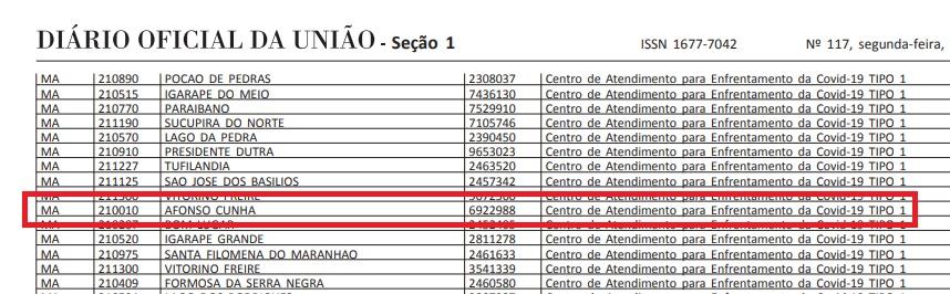 Único na Microrregional: Afonso Cunha é contemplado com Centro de Atendimento da COVID-19