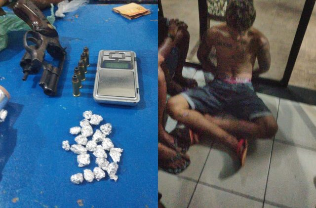 PM prende 06 acusados de assalto e tráfico de drogas em Coelho Neto