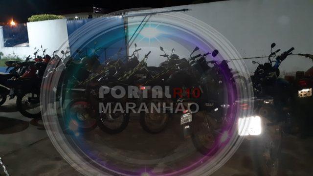 Mais de 50 motos no pátio da PM em Coelho Neto serão encaminhadas para Caxias nesa quarta (15)