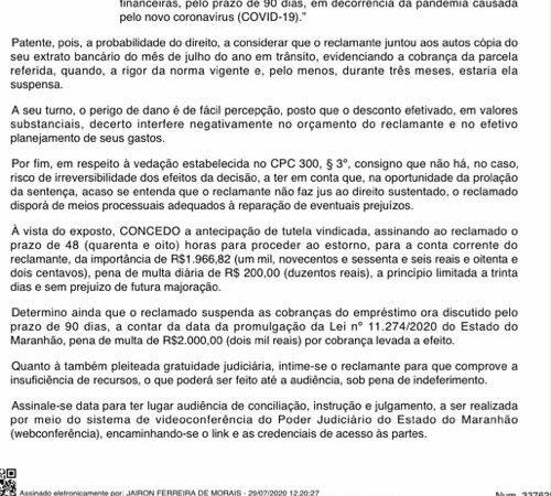 De forma individual, servidor de Coelho Neto consegue vitória na justiça no caso Bradesco