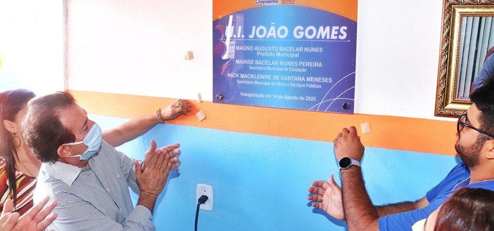 Prefeito Magno Bacelar entrega nova Escola João Gomes em Chapadinha